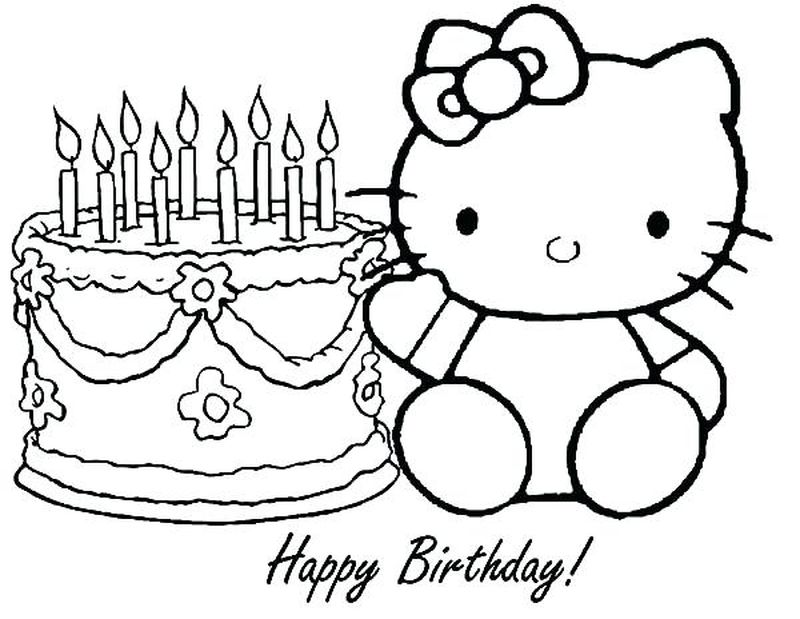 Birthday Day Cake Free Coloring Pages