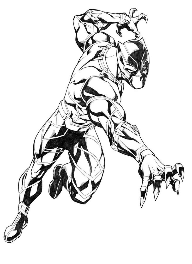 Black Panther Clan Coloring Pages Print