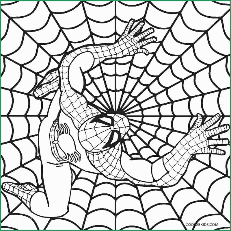 Black Spiderman Coloring Pages Free