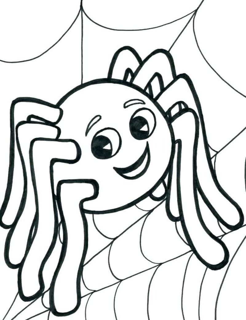 Black Widow Spider Coloring Pages