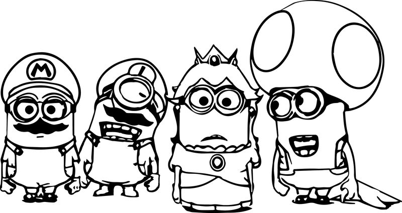 Bob And Kevin Coloring Pages Minions Free