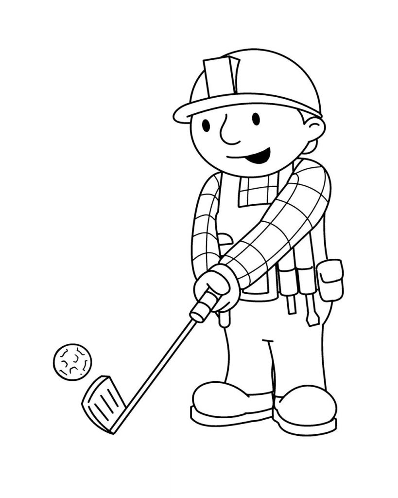 Bob Golf Coloring Pages free