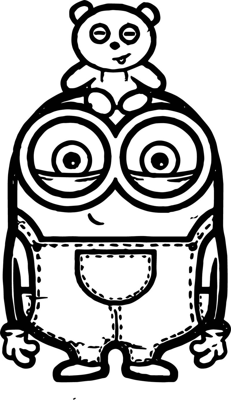 Bob Minions Coloring Pages Free