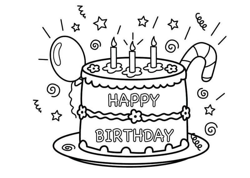Cake Coloring Pages For Adults