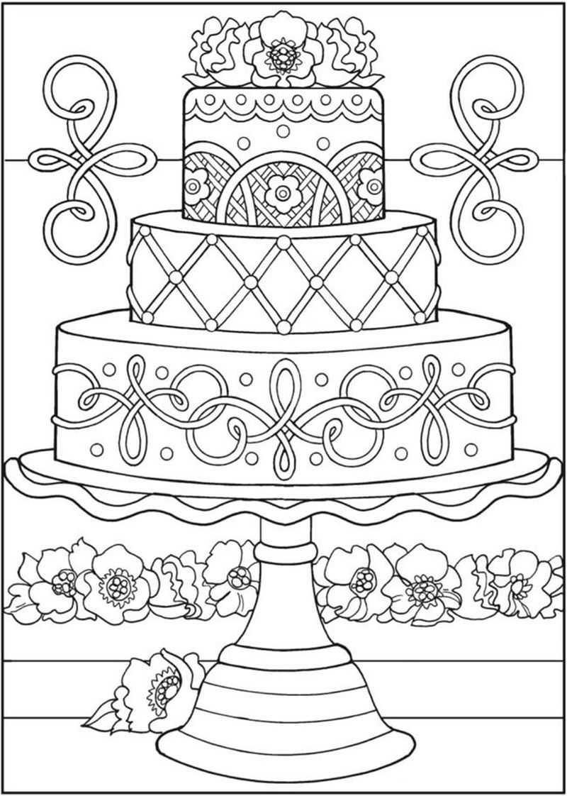Cake Coloring Pages Free Printable