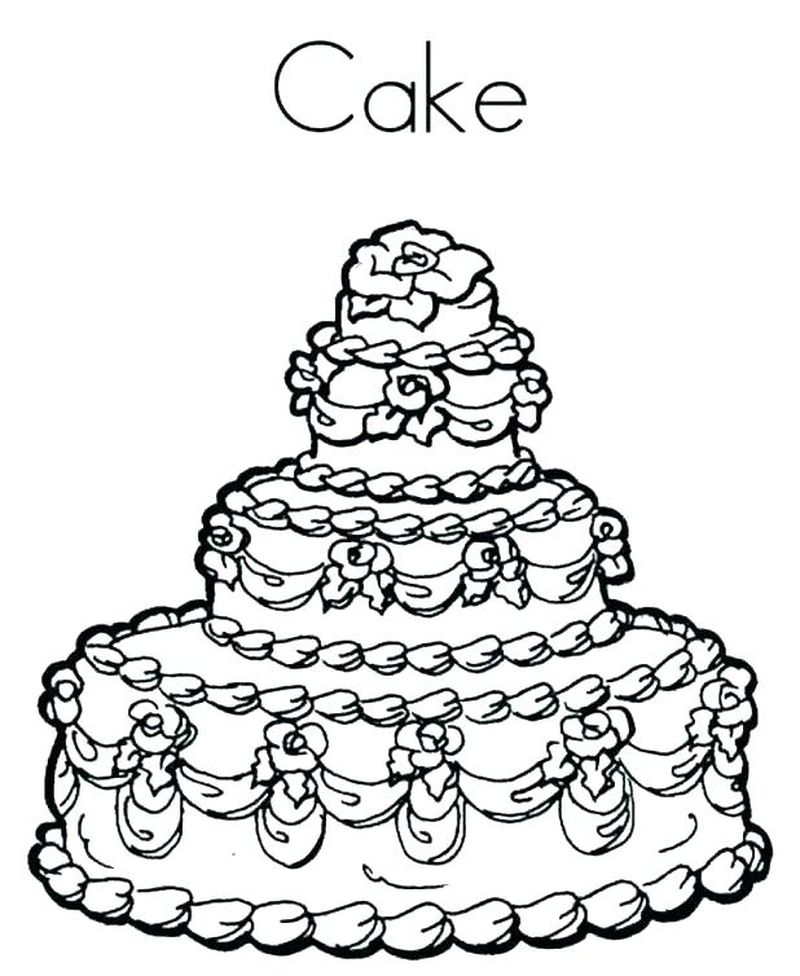 Cake Coloring Pages Online