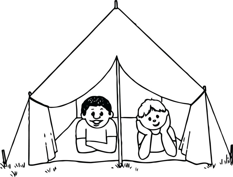 Camping Animal Coloring Pages Free
