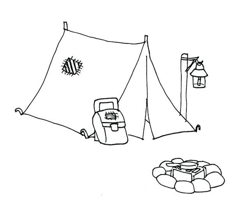 Camping Animals Coloring Pages Free