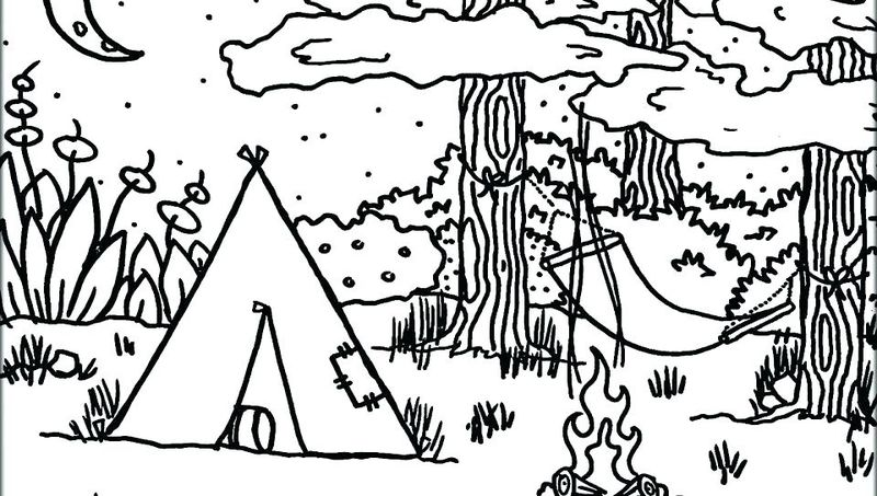 Camping Coloring Pages For Adults Free