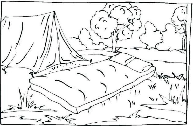 Camping Family Coloring Pages