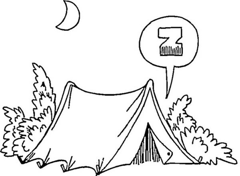 Camping Supplies Coloring Pages