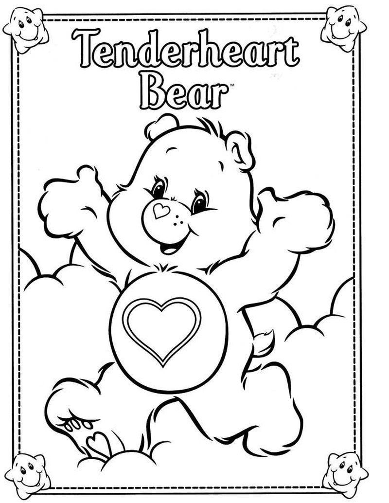 Care Bear Coloring Pages For Kids