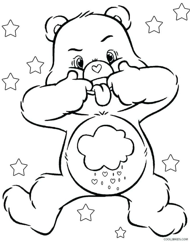 Care Bear Coloring Pages Valentines