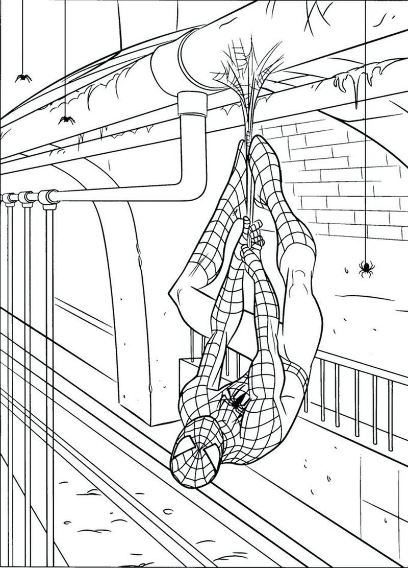 Carnage Spiderman Coloring Pages