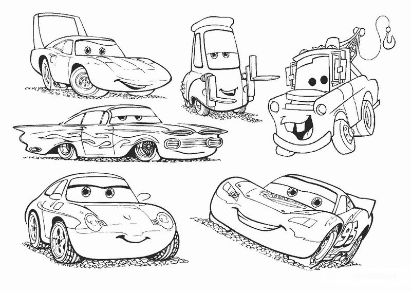 Cars 3 Lightning Mcqueen Racing Coloring Pages free