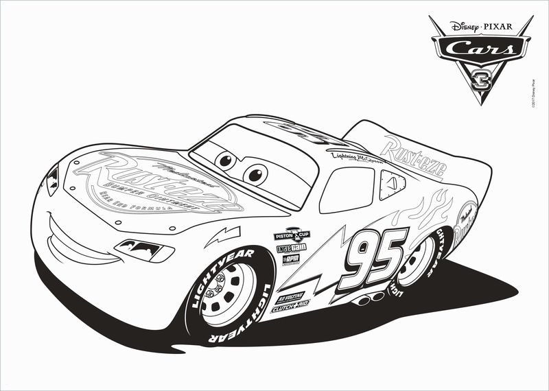 Cars 3 Lightning Mcqueen Rusteze Racing Center Coloring Pages free