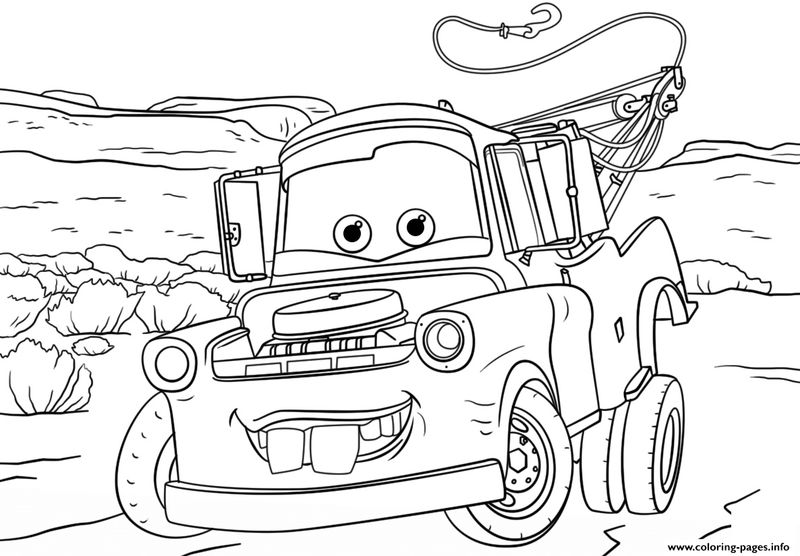 Cars 3 Mator Coloring Pages free