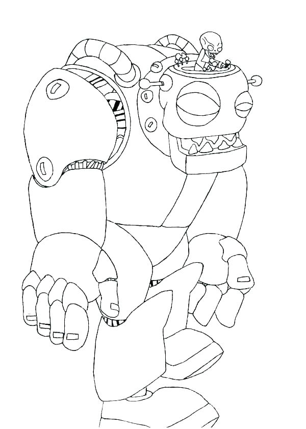 Cartoon Zombie Coloring Pages Free