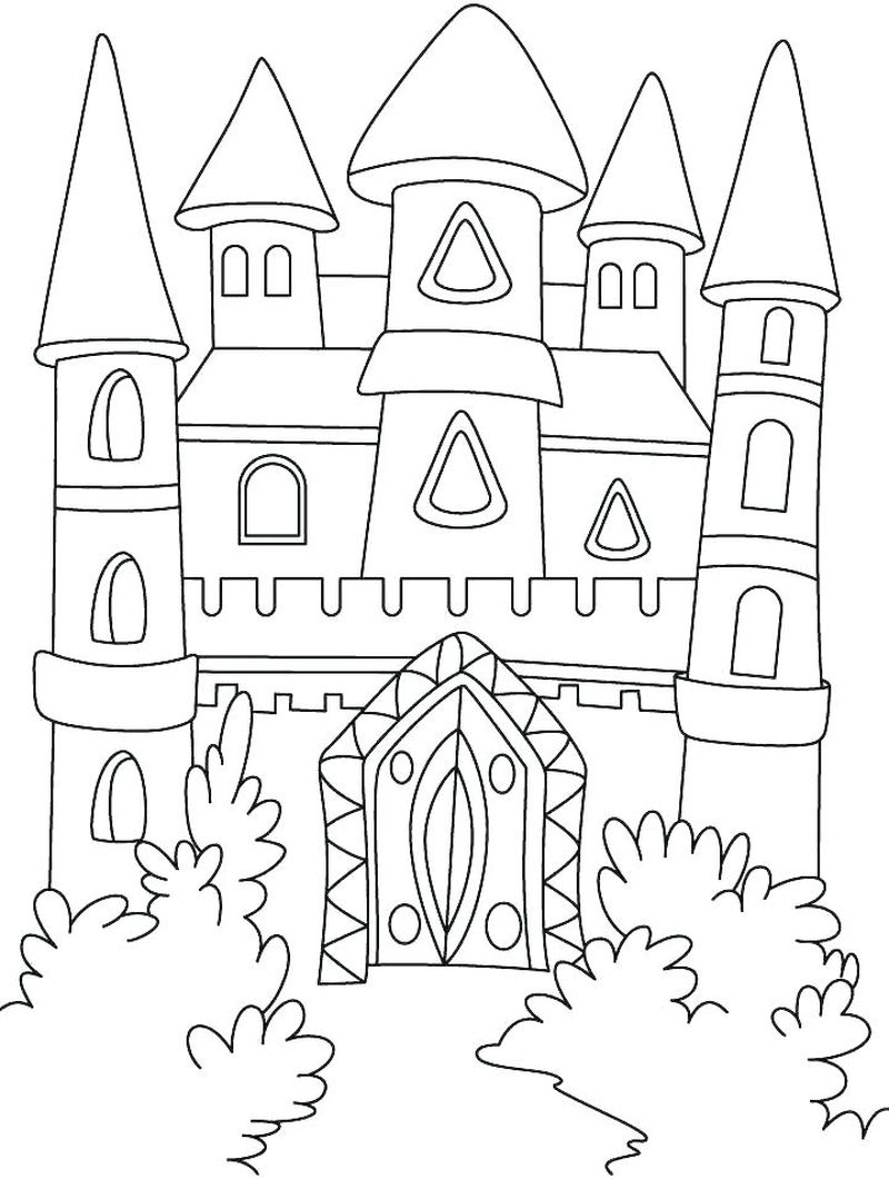 Castle Coloring Pages For Toddlers
