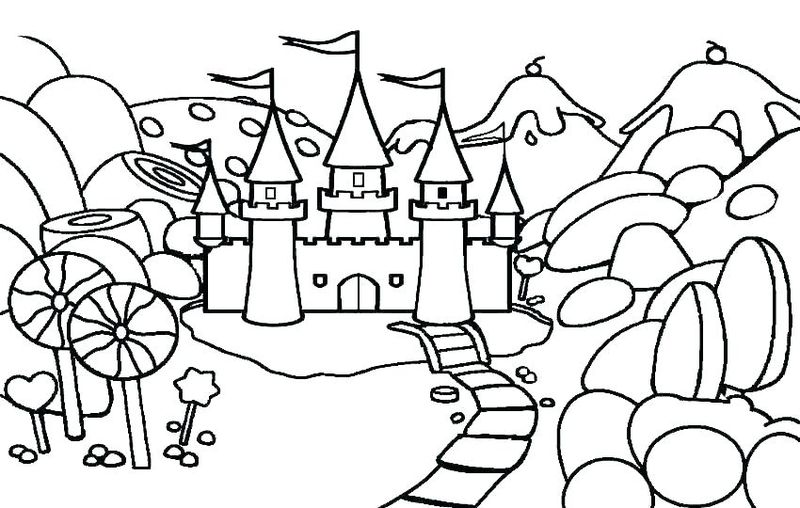 Castle Coloring Pages Printable Free