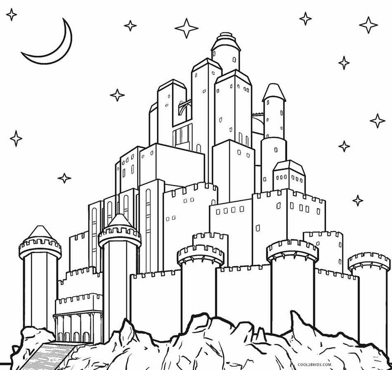 Castle Coloring Pages Printable