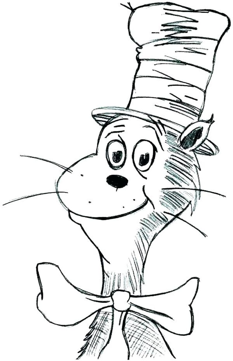 Cat In The Hat Christmas Coloring Pages free