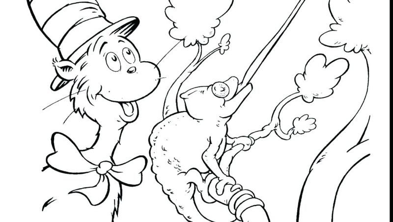 Cat In The Hat Coloring Pages For Kids To Print free