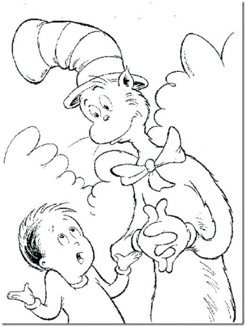 Cat In The Hat Coloring Pages For Kids free