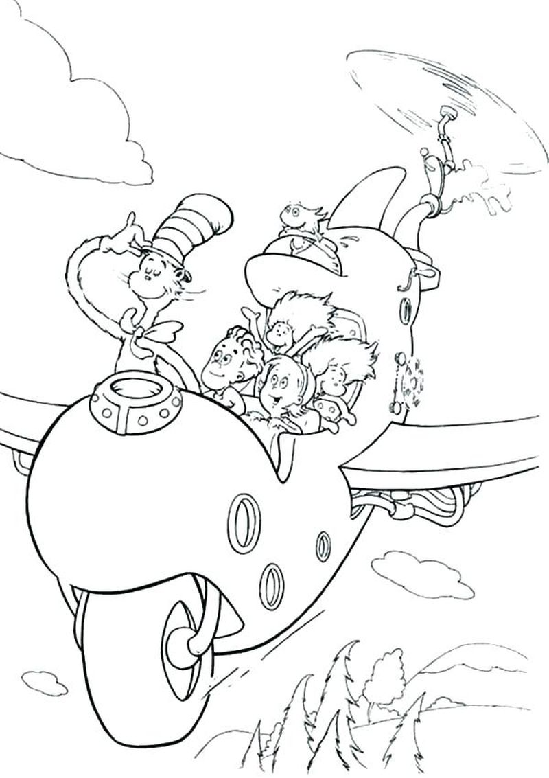 Cat In The Hat Coloring Pages For Preschool free
