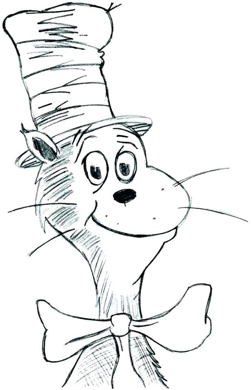Cat In The Hat Coloring Pages Free Printable pdf