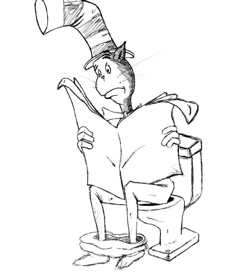 Cat In The Hat Coloring Pages Pdf