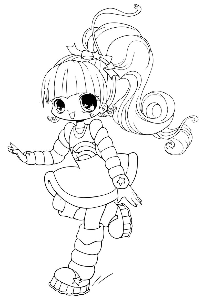 Chibi Animals Coloring Pages free