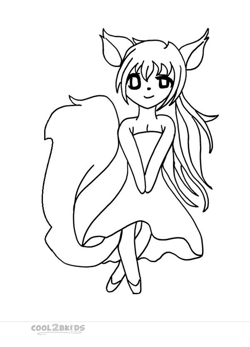 Chibi Anime Coloring Pages free