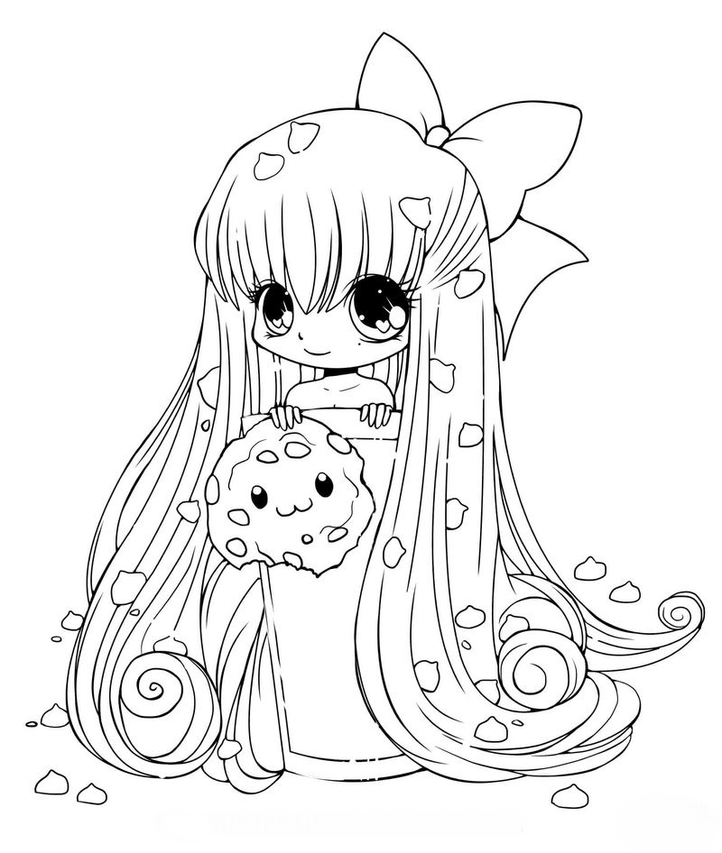 Chibi Anime Girl Coloring Pages free