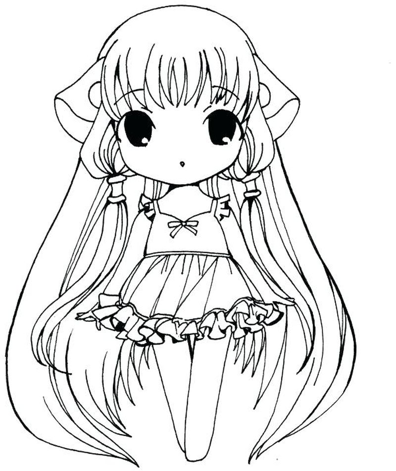 Chibi Cat Coloring Pages Free