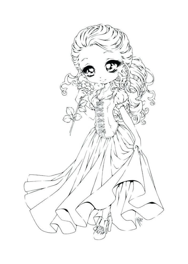 Chibi Cat Girl Coloring Pages Free