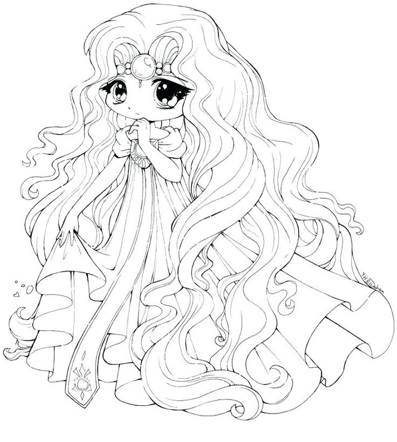 Chibi Coloring Pages For Kids Free