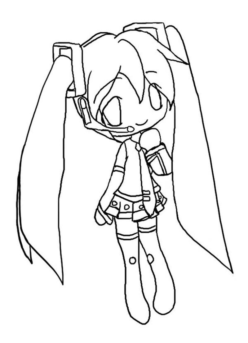 Chibi Coloring Pages Girl Free