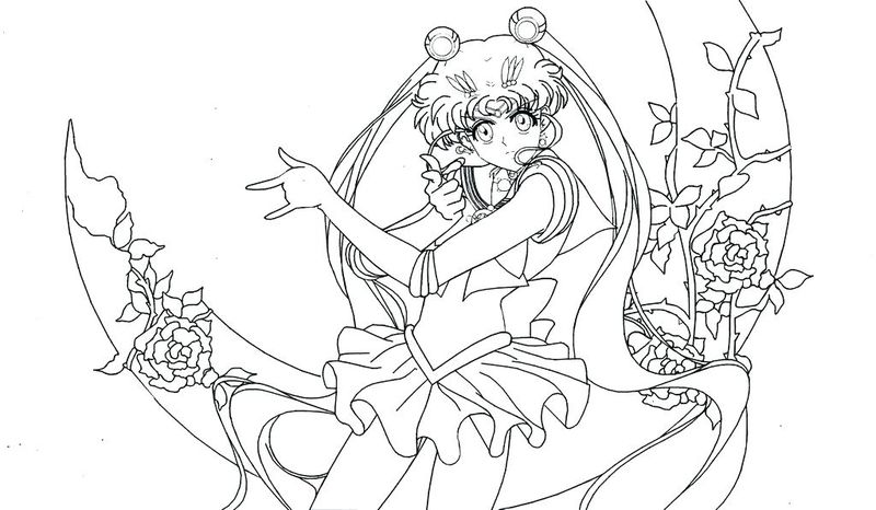 Chibi Sailor Moon Coloring Pages free