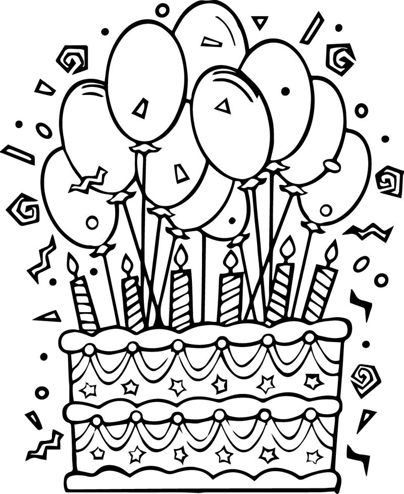 Chocolate Cake Coloring Pages