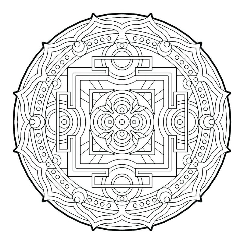 Christmas Geometric Coloring Pages free