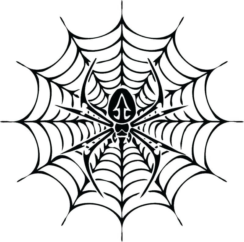 Christmas Spider Coloring Pages