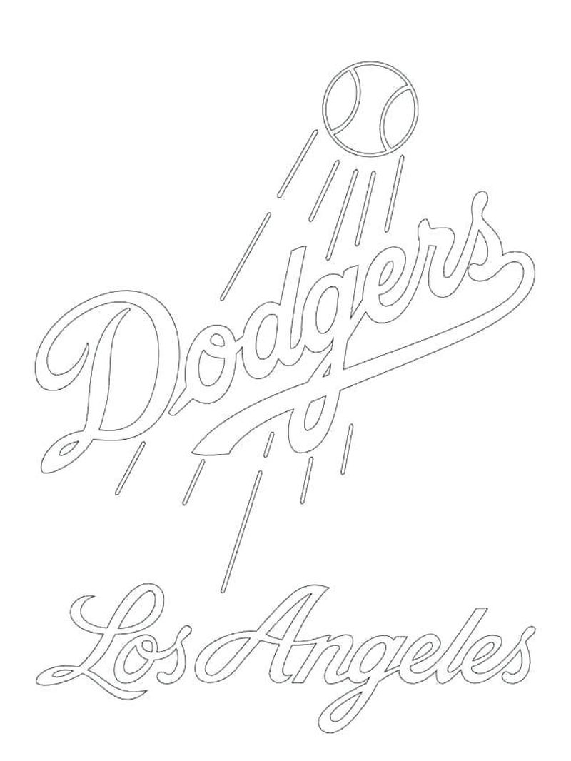Coloring Book Pages Baseball