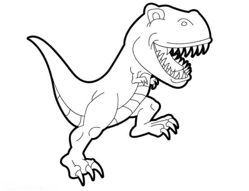 Coloring Book Pages Of Jurassic World