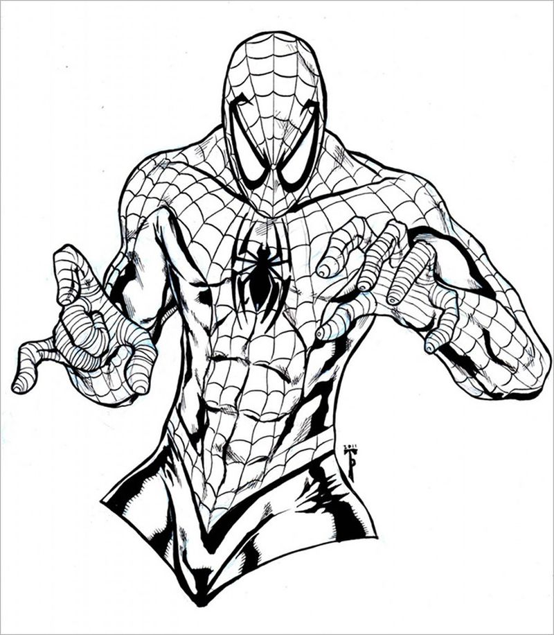 Coloring Book Pages Spiderman