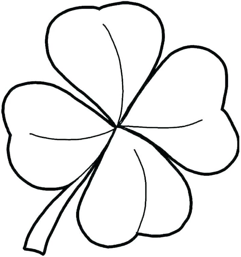 Coloring Page Shamrock Trinity Free