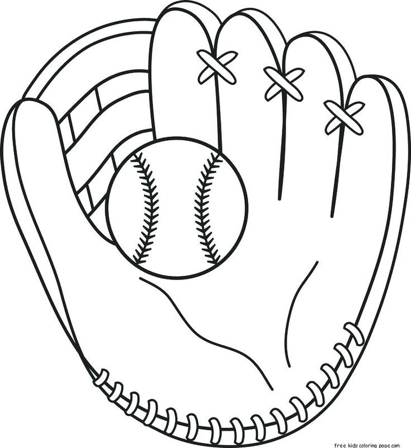 Coloring Pages Baseball Field