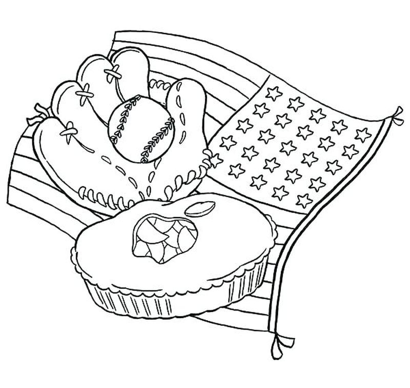 Coloring Pages Baseball Players
