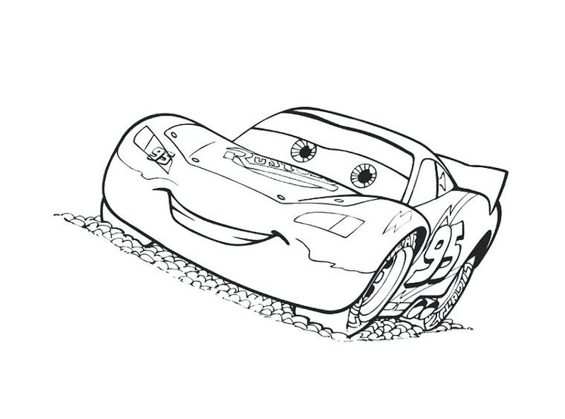 Coloring Pages Cars 3 Race Cars free
