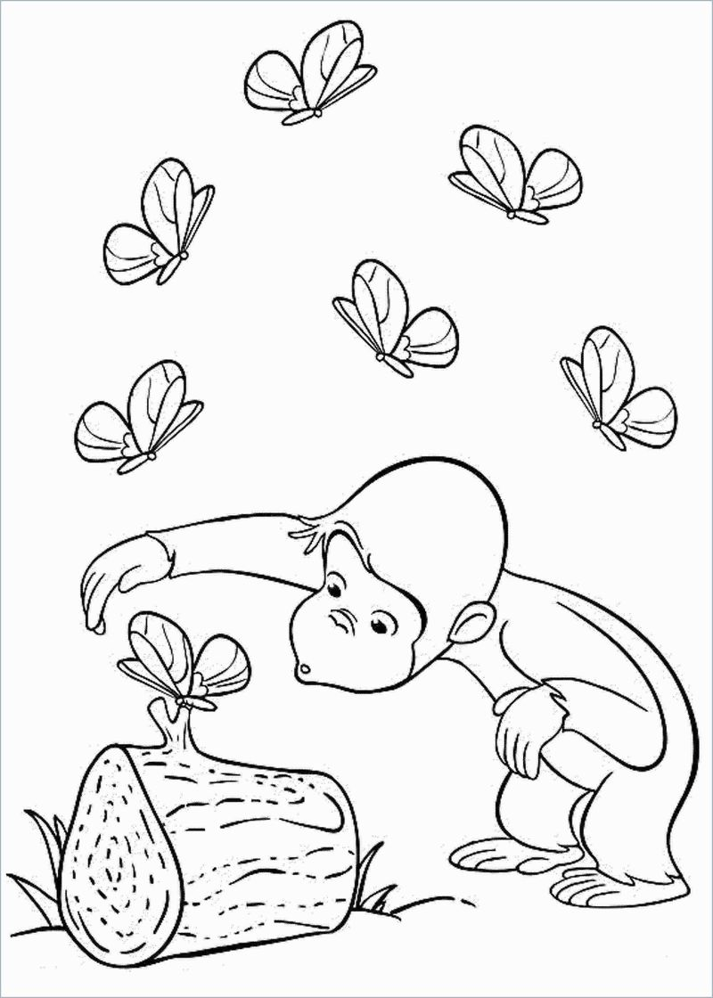 Coloring Pages Curious George
